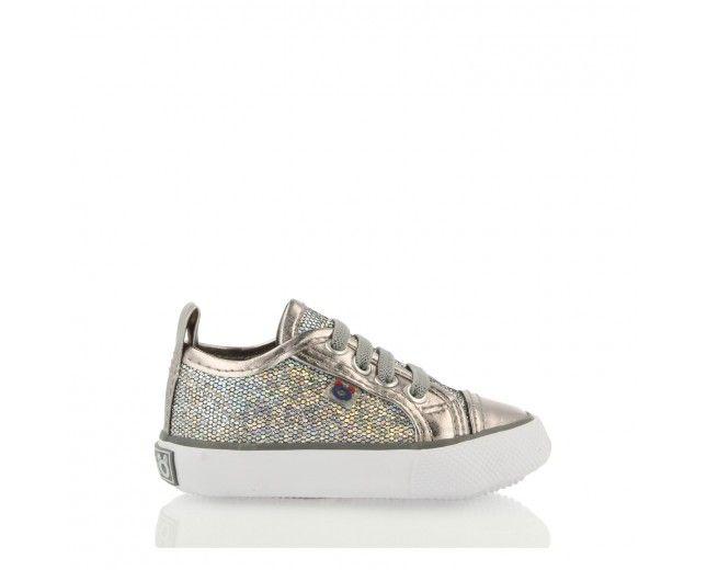 Zapatillas de Bebé Glitter Plata