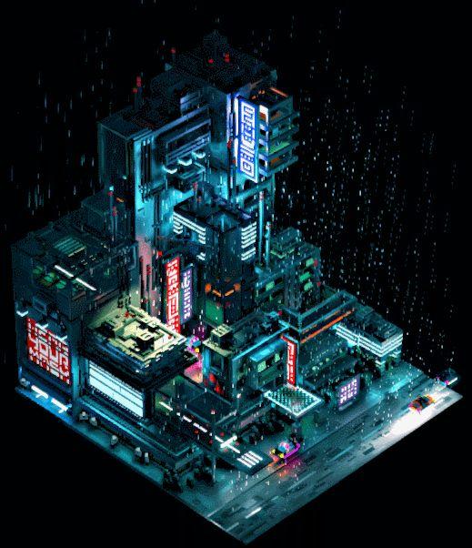 Consulter ce projet @Behance: «Sci-Fi City - Voxel Art» https://www.behance.net/gallery/45507447/Sci-Fi-City-Voxel-Art