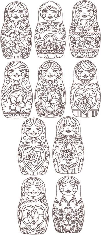 Patrón bordado mamushka