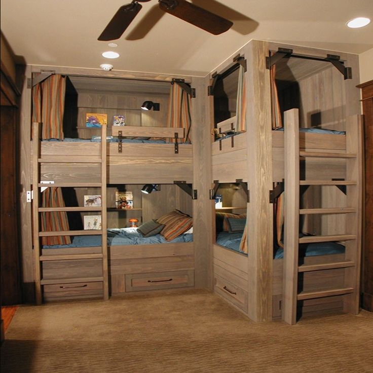 30 best images about bunk bed ideas on pinterest childs Bunk room designs