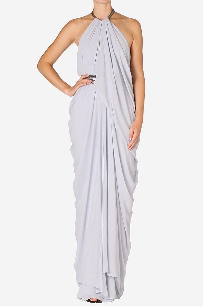 Seafoam Georgette Gown Carla Zampatti Sparkles Lace