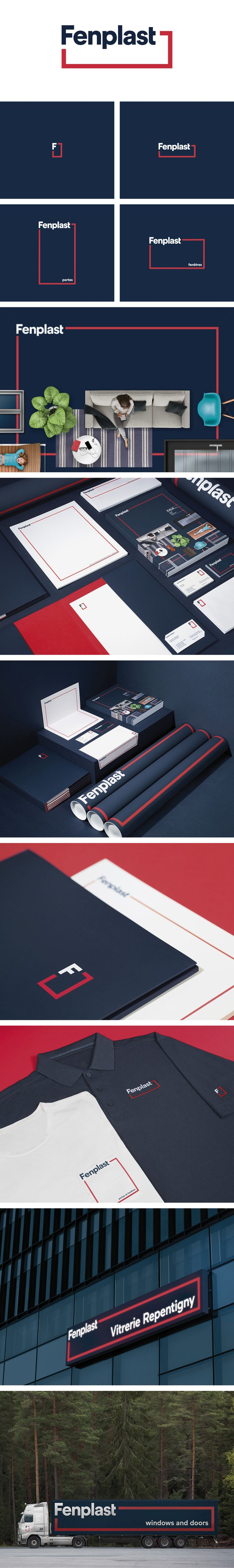 More corporate-designs are collected on: https://pinterest.com/rothenhaeusler/best-of-corporate-design/ · Agency: lg2 · Client: Fenplast · Source: http://lg2.com/fr/realisations/789/fenplast-identite-visuelle #branding #identity #corporatedesign