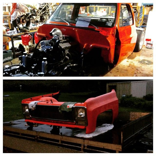 JWDRPR - Well she's in bits now, front end off to go with the rear from last week thanks to the lads @ytubit and @nakijaklaus , time to get that @accuair #elevel installed and get those chassis rails on the ground, chop chop! #chevrolet #gmc #c10 #AirSuspension #bagged #layframe #raked #stance #stepside #hotrod #streetrod #carporn #lowfastfamous