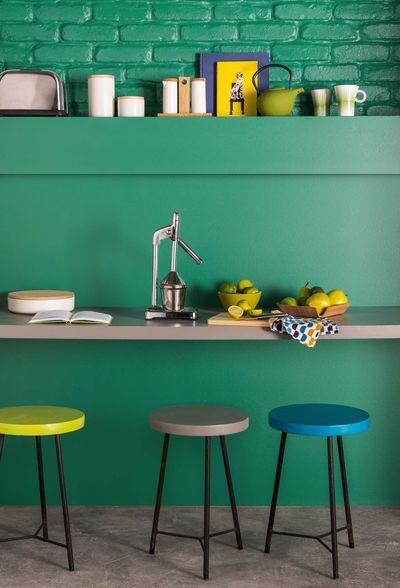 peinture vert anis pomme d 39 eau pistache kaki bleu vert style loft gaiet et apparente. Black Bedroom Furniture Sets. Home Design Ideas