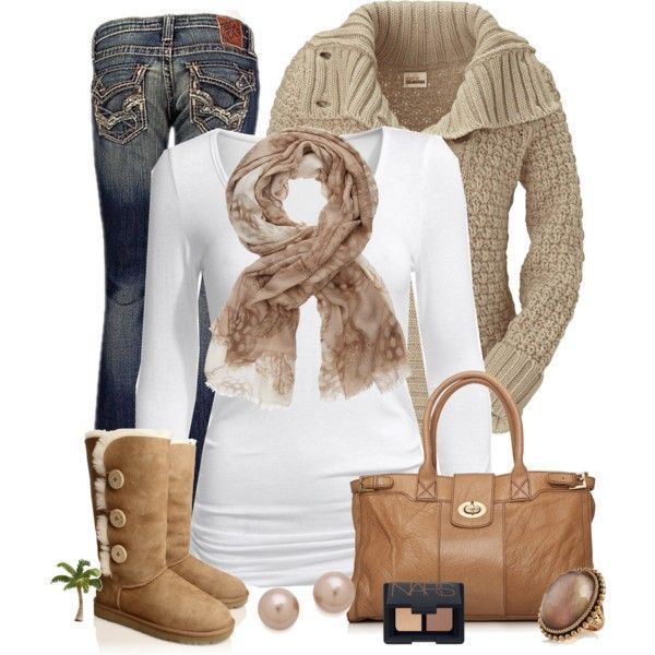 Winter Outfit. Love it from the boots to the scarf