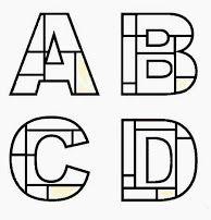 Mondrian style alphabet art?                                                                                                                                                                                 More