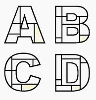 Mondrian style alphabet art?