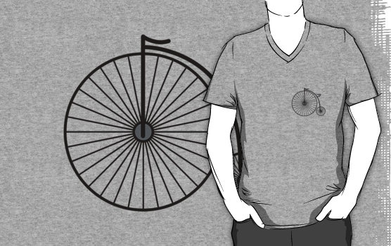 High Wheeler / Penny Farthing Tee (Small logo)