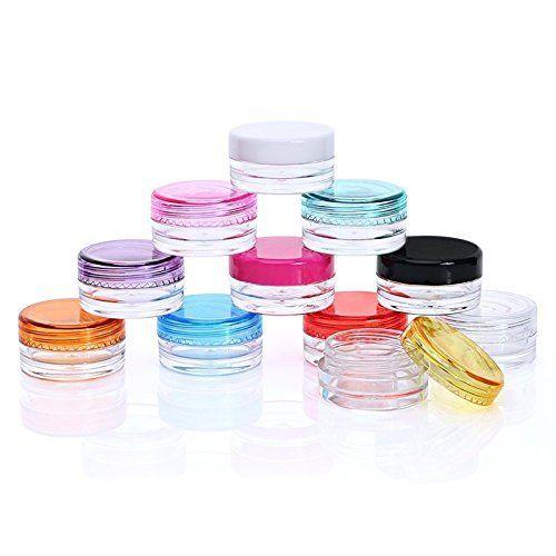 2cb49c7be6fb Healthcom 3 Gram Plastic Pot Jars 3 ML Jar Cosmetic Containers ...