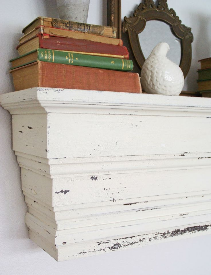 Pottery Barn Knock Off Chunky Wall Shelf The Speckled