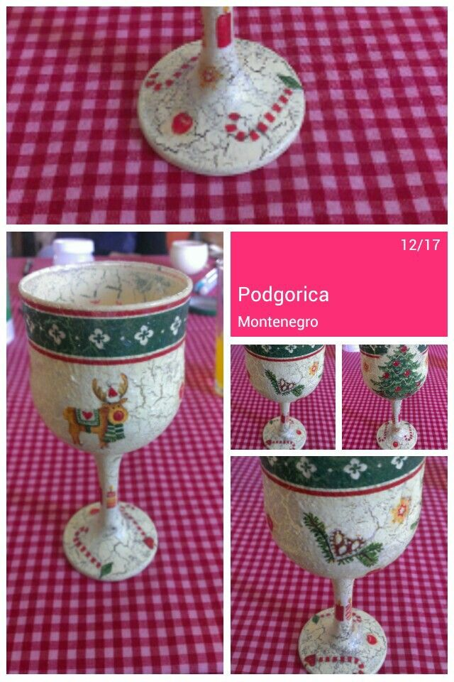 Soo Christmasy! This is candle holder, present for my sister.