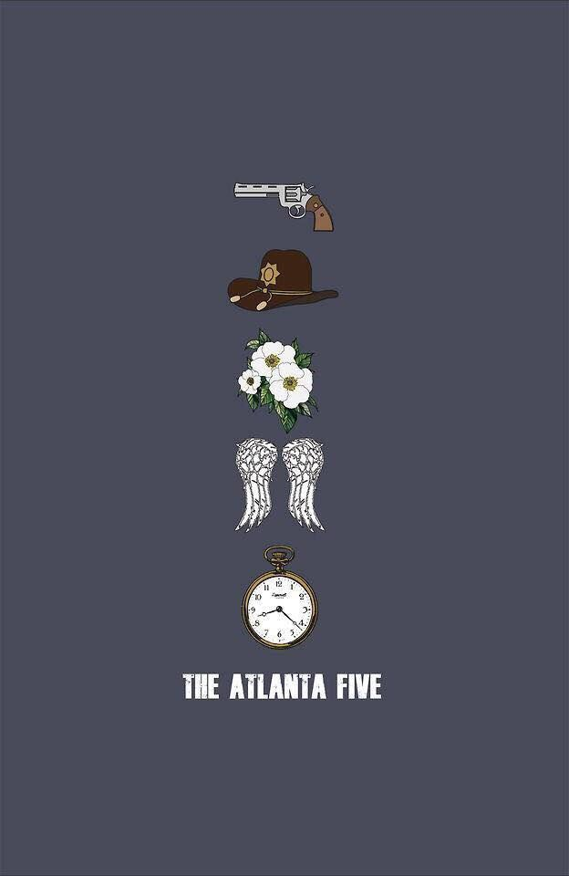 The Atlanta 5: from top: Rick Grimes; Carl Grimes; Carol Peletier; Daryl Dixon and Glenn Rhee.
