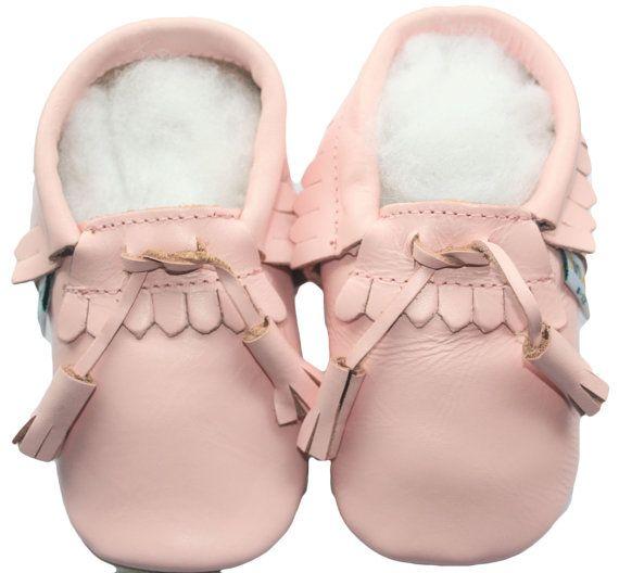 Gratis verzending Jinwood zachte enige lederen schoenen baby peuter kinderen kinderen meisje babygift Mocassin lace roze schoenen