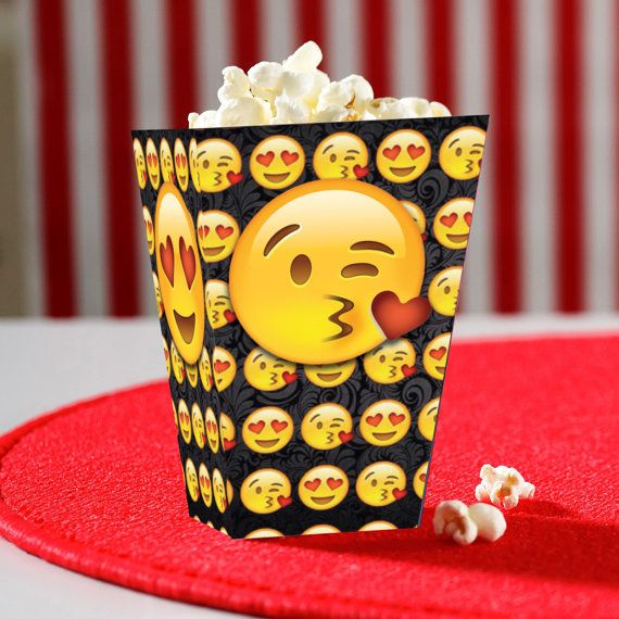 Emoji Inspired Popcorn Snack box Instant by Crea8iveDesign