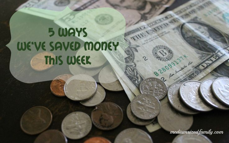 5 Ways We've Saved Money This Week 3. A weekly series featuring money saving ideas and tips.