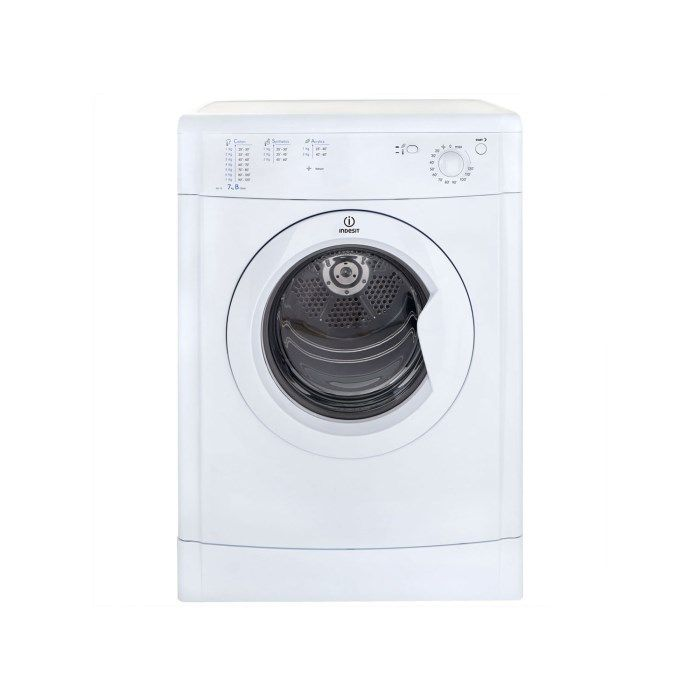 Indesit IDV75 7kg Freestanding Vented Tumble Dryer - White