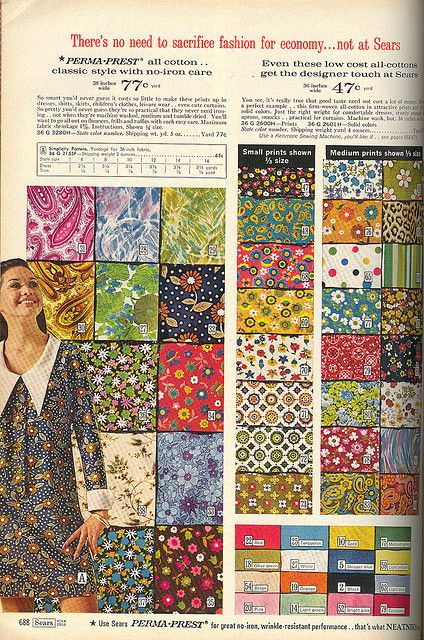 60's fabric - if only I could go back in time and buy yards and yards...