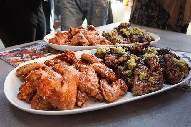 Redmountain BBQ Erkelenz REWE Lieferdienst REWE Grillbattle bei Santos in Köln Westwood BBQ zweierlei Chicken Wings