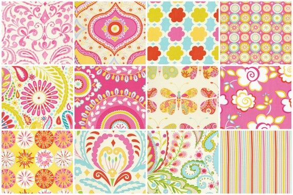 Kumari garden pink layer cake by dena designs 24 10 for Dena designs fabric kumari garden