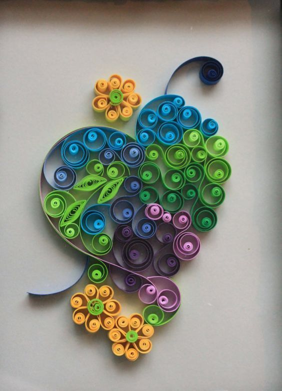 Hey, I found this really awesome Etsy listing at https://www.etsy.com/listing/233192933/quilled-heart-and-flowers-wall-art
