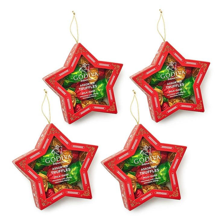 Godiva Chocolatier Holiday Star Ornament & Wrapped Chocolate Truffles 4-pk., Multicolor