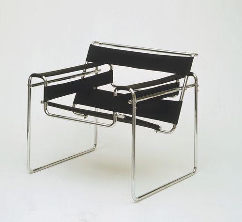 Marcel Breuer (American, b. Hungary, 1902-1981). Wassily Chair, 1927-28. 28 1/4 x 30 3/4 x 28 in. (71.8 x 78.1 x 71.1 cm). Gift of Herbert Bayer.