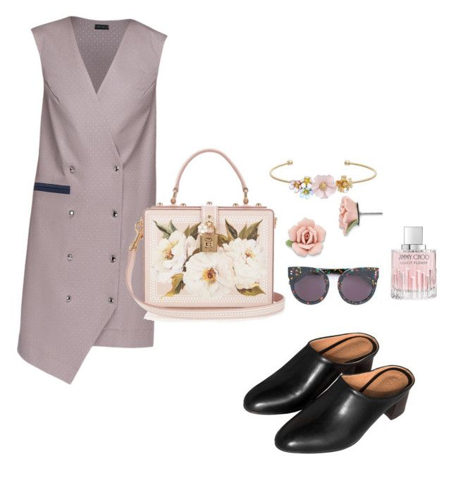 """spring"" by viennaelgiva on Polyvore featuring Lattori, LC Lauren Conrad, 1928, STELLA McCARTNEY, Dolce&Gabbana and Jimmy Choo"
