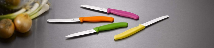Victorinox Household knives with trendy colors. Order now at www.voyager-shop.gr