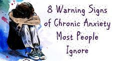 8 -Warning Signs of Chronic Anxiety Most People Ignore. Chronic anxiety is a common anxiety disorder that involves constant worry, nervousness and tension. It goes far beyond worrying about a work …