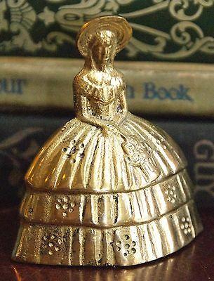 Vintage Brass Lady Shaped Bell