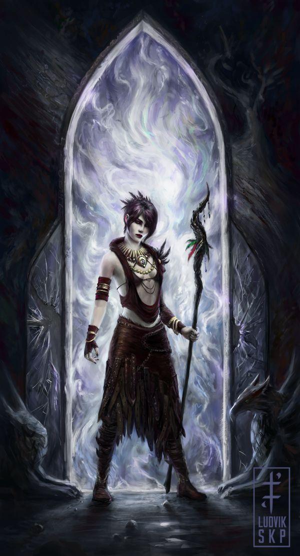 Dragon Age: Morrigan Fan Art - Created by Ludvik Skopalik