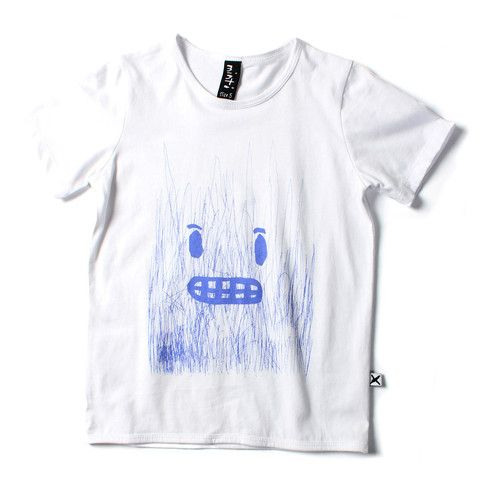 Minti scribble face tee white | Tinypeople