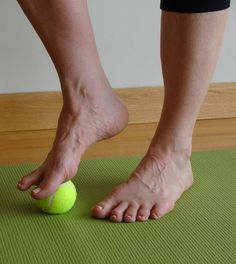 5 minute challenge roll your feet on a tennis ball to