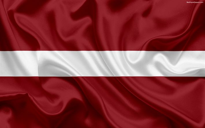 Download wallpapers Latvian flag, Latvia, Europe, European Union, flag of Latvia, silk flag
