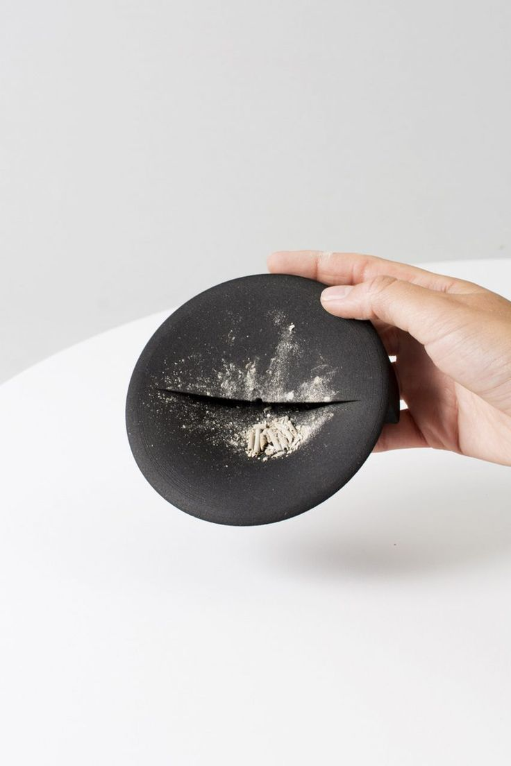 Vancouver-based designer Lukas Peet has created a geometric incense holder-cum-ashtray using 3D printing technology.  Peet crafted the Scent Tray using direct metal laser sintering, which uses 3D-printing to form shapes from steel powder.