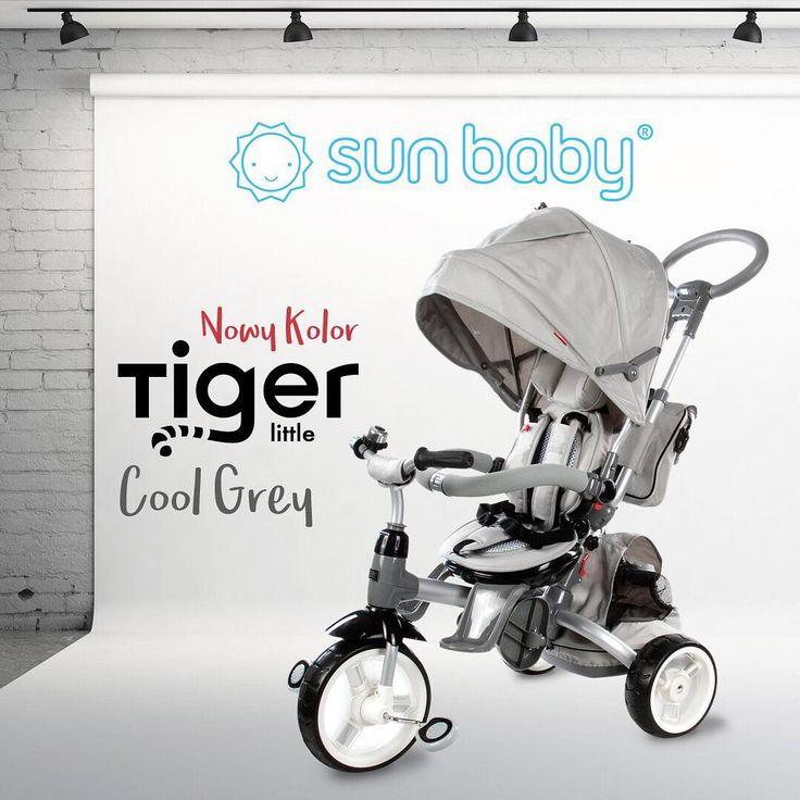 "Polubienia: 114, komentarze: 18 – Sun Baby (@sun_baby_pl) na Instagramie: ""Little Tiger w nowym kolorze Cool Gray. ☑️uwielbiamy ❤️😍#littletiger #spacer #rowerek…"""