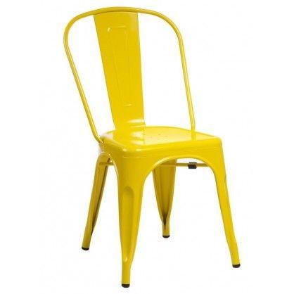 Krzesło Paris to wyjątkowo propozycja łącząca w sobie różnorodność barw z wytrzymałością metalu. Krzesło utrzymane jest w klimacie retro dzięki czemu nadaje wnętrzu unikalnego charakteru. Jego surowa konstrukcja, wykonana z malowanego metalu jest niezwykle wytrzymała i stabilna. Krzesło posiada możliwość sztaplowania oraz występuje w kilku wariantach kolorystycznych.