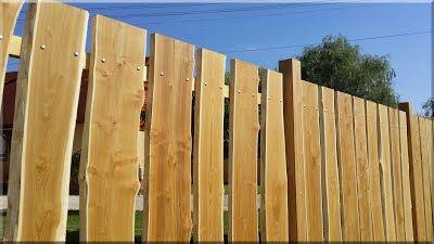 rusztikus fakerítés