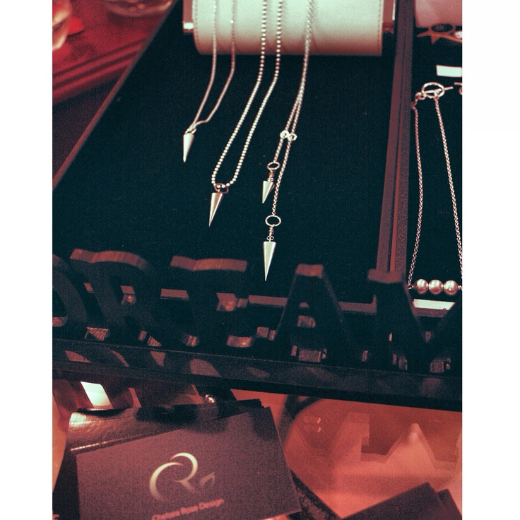 Spike it up.   Simple, mens, or double spike adjustable solid sterling silver spike necklaces  www.chelsearose.ca