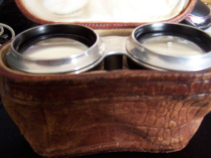 Voiglander opera glasses in leather case