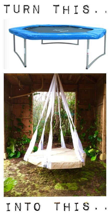 Quick Tip – Recycled Trampoline Hanging Bed! | The Garden Glove