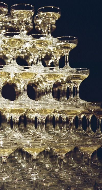 De Champagne toren, leuk en glamoureus!