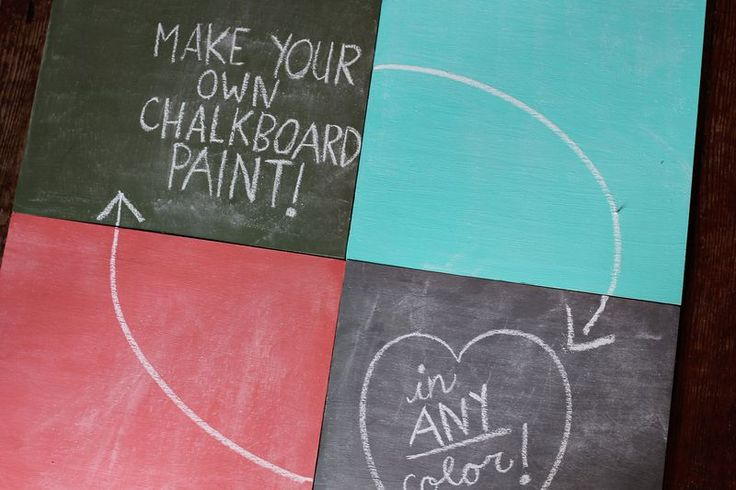 Chalkboard paint: Diy'S Chalkboards, Chalkboards Crafts, Color Chalkboards, At Homes, Crafts Idea, Acrylics Paintings, Chalkboards Paintings Projects, Paintings Brushes, Mixed Chalkboards