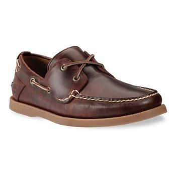 Timberland - Chaussures EK Boat 2-Eye Homme - Rootbeer Smooth
