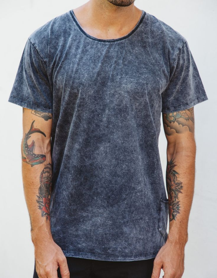 Naken Onyx Tee Black Wash