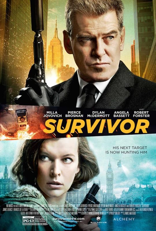 Milla Jovovich Eludes Evil Pierce Brosnan in 'Survivor' Trailer