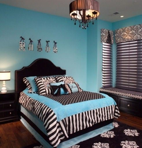 Zebra Things For Teens Rooms | Things For Kaleigh / Turquoise And Zebra  Print Teen Room