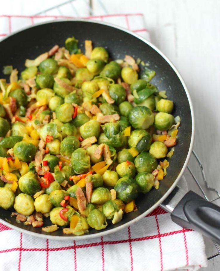 Jummie, spruitjes! Lekker met rijst of aardappeltjes. | Flairathome.nl #FlairNL