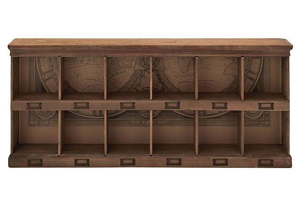 Foyer Cubby Storage : Cubby wall shelf on onekingslane entryway storage
