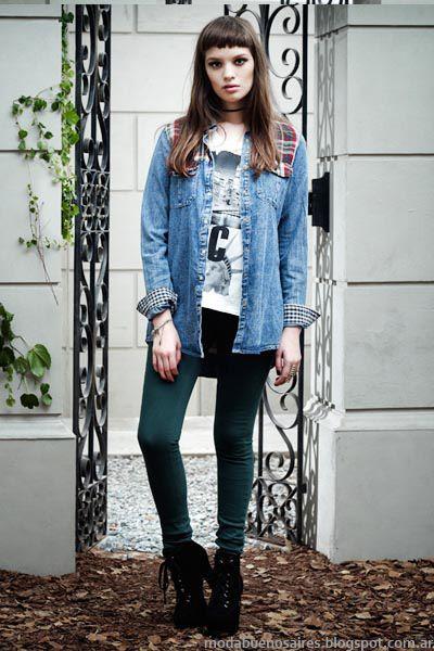 Vov Jeans invierno 2014 Moda de mujer denim invierno 2014.